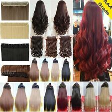 100% Natural As Human Full Head Clip In Hair Extensions Curly Wavy Straight Hair
