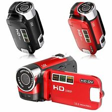 "Red Black Digital Camera Camcorder Video Recorder Mini DV 16XZoom 2.7"" LCD 16MP"