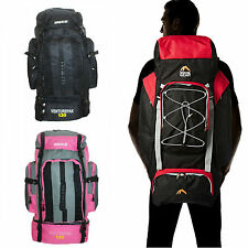 Large 70L Or 100L Travel Hiking Camping Festival Luggage Rucksack Backpack Bag