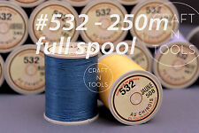 "Sajou Fil au Chinois ""Lin Cable"" Waxed Linen Thread Full Spool #532 0.57mm Cord"