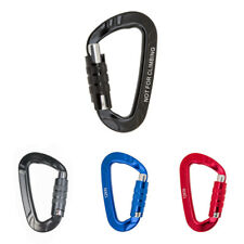 Outdoor Camping Hiking D-Ring Carabiner Screw Locking Snap Clip Hook Hanger 12KN