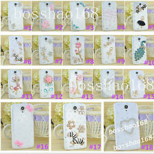 Handmade Bling Clear Crystal Diamond Soft TPU back thin Phone Case Cover Skin 11