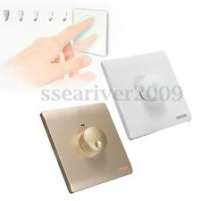 220V LED Knob Dimmer Light Switch Plate Panel Turn On/Off Circuit Dimmable Decor