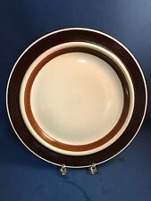 ARABIA Finland Brown Anemone ROSMARIN Dinner Salad Bread Cup Saucer AND MORE