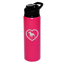 25oz Aluminum Sports Water Bottle Travel Pitbull Heart