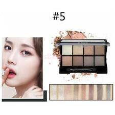 8 Colors Pro Eye Shadow Makeup Shimmer Matte Eyeshadow Palette Set + Brush