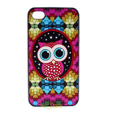 Cute Owl kaleidoscope Stars Hard Back Case Cover Skin for Apple iPhone 4 4S 5