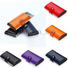 AU Men's Aluminum Leather ID Credit Card RFID Protector Holder Purse Wallet