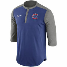Limited Edition Nike MLB Authentic Collection Dri-FIT 3/4-Sleeve Henley T-Shirt