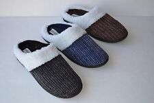 BT-28 men`s Soft Furry Warm Corduroy Winter Slippers Home Indoor Shoes Size 7~12