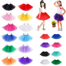 2-7Y Girls Kids Dance Fluffy Tutu Skirt Pettiskirt Ballet Dress Fancy Costume