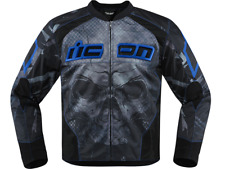 Icon Overlord Reaver Blue Motorcycle Riding Jacket [ALL SIZES]