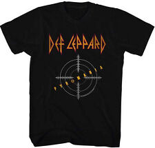 Def Leppard Mens New T-Shirt PYROMANIA TARGET in 100% Black Cotton SM - 2XL