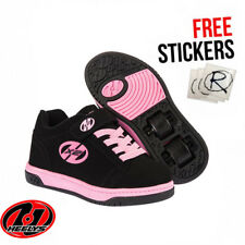 Heelys X2 Dual Up, Black/Pink Wheeled Lace Up Roller Girls Heelys Shoes