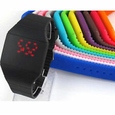 Unisex Kids Touch Screen Red LED Digital Watch Sports Wristwatch Jelly Watch