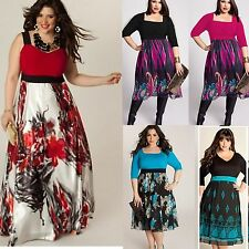 Oversized Women Summer Casual Evening Party Prom Gown Formal Dress Plus Size 4XL