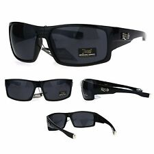 Locs Mens Gangster Oversize Rectangular Cholo Warp Plastic Sunglasses