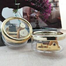 Circle Gold Transparent Wind Up Music Box Gift:Castle in the Sky/Happy Birthday