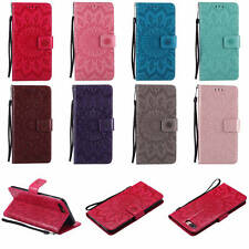 Hybrid Flip Stand Magnetic Case PU Leather Wallet Card Holder Soft TPU Cover