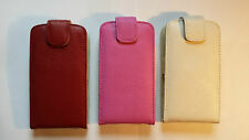Genuine leather flip style case, cover to fit Alcatel Pop S3 phone