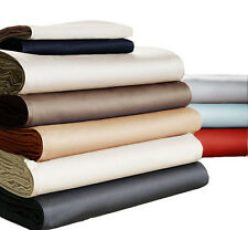 600-Thread-Count 5PC Duvet Cover Set Button Closer Solid 100% Egyptian Cotton.