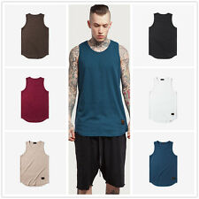 MENS VESTS TANK TOP SUMMER TRAINING GYM TOPS CLASSIC COTTON  Waistcoats