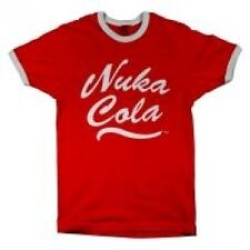 FALLOUT Men's Nuka Cola Logo T-Shirt, Large, Red - Brand new!