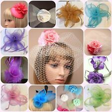 Hair Fascinators on Comb Clip or Headband for Wedding Prom Party Race days