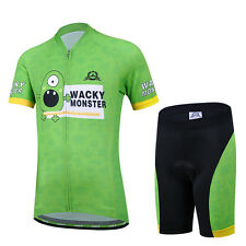 CSP13 Design Bicycle Bike Cycling Jersey Short Sleeves Set For Kids Boys Girls