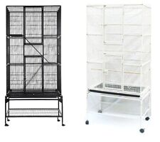 NEW NBH 3082 LARGE PARROT BIRD MACAW AVIARY FLIGHT CAGE WIRE WITH STAND&WHEEL