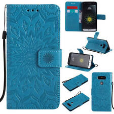 Flip Stand Magnetic Case PU Leather Wallet Card Slot Holder Soft TPU Cover