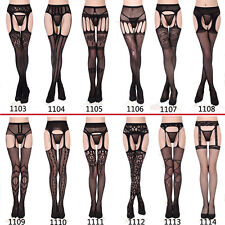 Sexy Womens Lace Mesh Suspender Stockings Hanging Pantyhose Tights Socks Hosiery