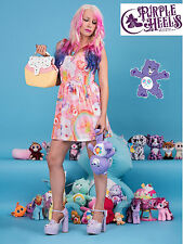 Iron Fist Care Bears Clouds of Caring Pastel Pink Rainbow Dress XS - XL