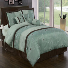 Grand Park Luxury 7PC Comforter Set, Include Comforter, Skirt, Shams and Pillows