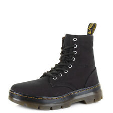 Womens Dr Martens Combs Canvas Black Lace Up Ankle Boots  Size