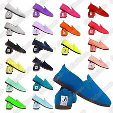 New Boys Mens Javer Flossy Style Espadrille Plimsole Pumps Flat Canvas Shoes
