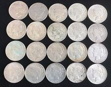 Lot of 20 Silver Peace Dollars