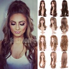 Womens Hair Wig Long Straight Natural Cosplay Full Wigs Black Brown Blonde Party