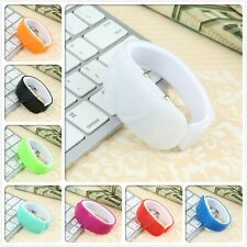 @Silicone Rubber LED Bracelet Touch Digital Wrist Watch ElectronicBK