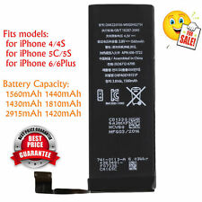 1560mAh Li-ion Battery Replacement Part with Flex Cable for iPhone 5S/5C/6/6plBK