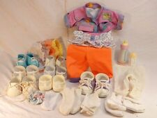 LOT of Vintage CPK Cabbage Patch Doll 7 Shoes & Clothes, Socks & Baby Bottles