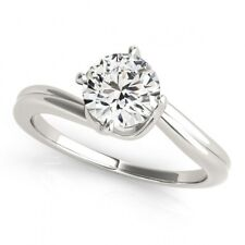 3.00 Carat Rare round moissanite solitaire engagement ring made in 925 silver
