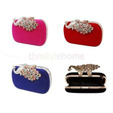 Women Evening Cocktail Wedding Xmas Party Handbag Clutch Purse Wallet Decorative