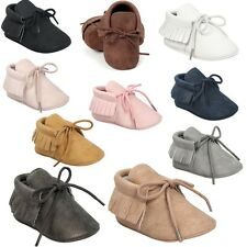 Tassel Boy Girl PU Leather Soft Sole Moccasin Baby Infant Newborn Shoes Sneakers
