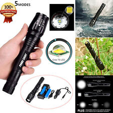 8000LM Zoomable XML T6 LED Tactical Flashlight X800 Torch+18650 Battery+Charger