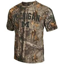Men's Brown Tine Realtree Camo University of Michigan Wolverines T-Shirt