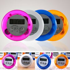 New Cute Mini Round LCD Digital Cooking Home Kitchen Countdown UP Timer Alarm OP