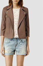 NWT 0 2 4 AllSaints AllSaints Summer Cargo Leather Biker Jacket Retail $485