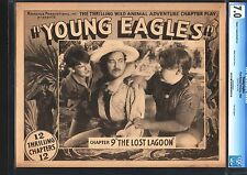 YOUNG EAGLES-1934 BOY SCOUTS SERIAL-CGC LOBBY CARD FN/VF