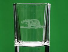 Badger Countryside Nature Crystal Shot Tot Glass Cup Ideal Gift British Animal